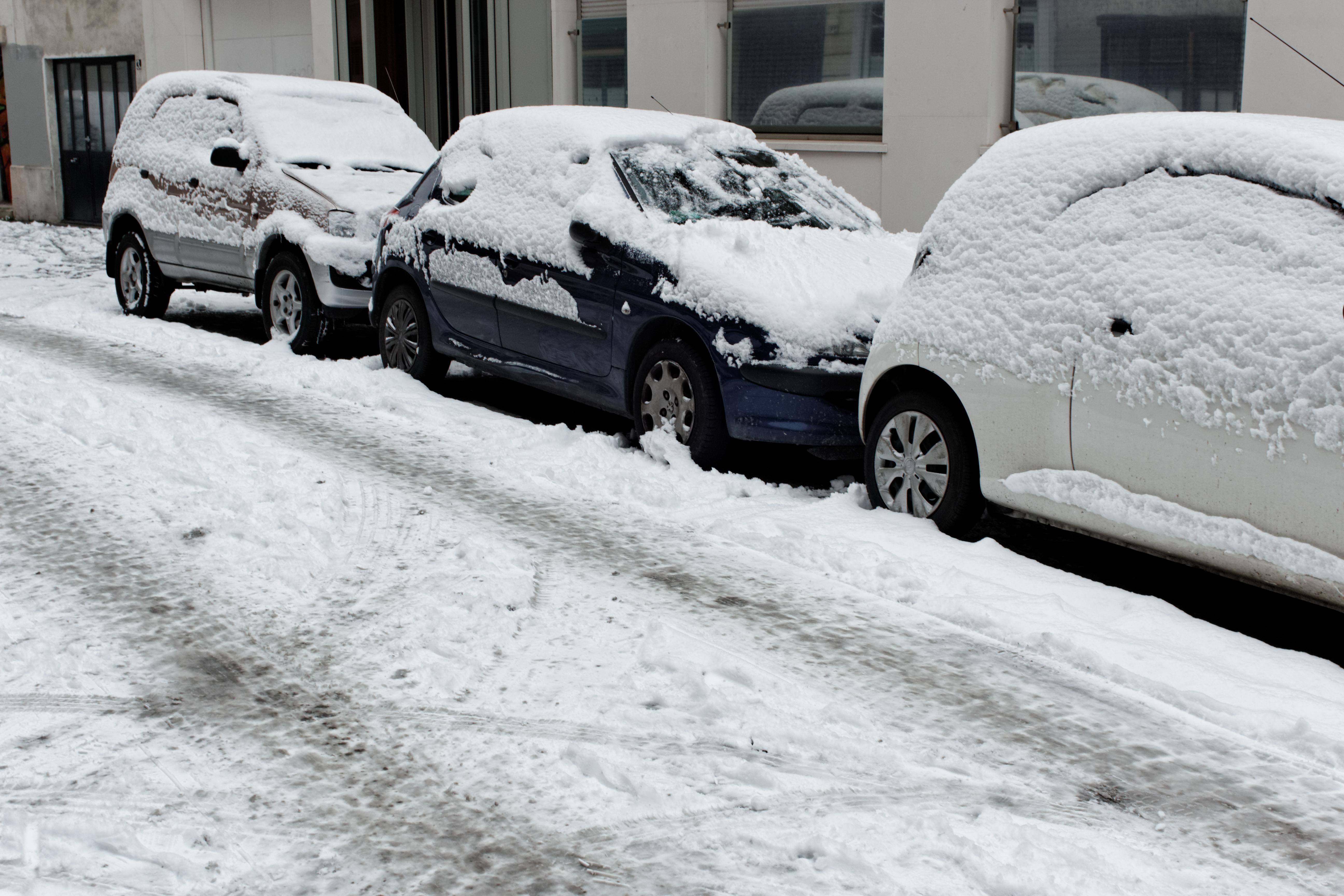Glissement de neige sur mon auto