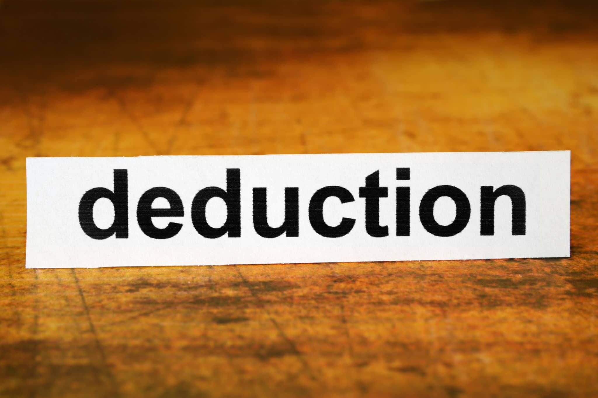 Déduction d'impôts